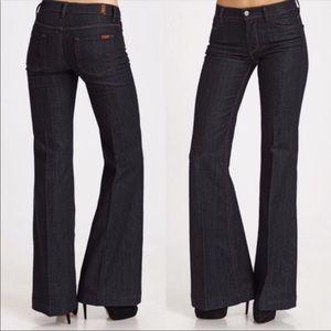 7FAM Ginger Flare Wide Leg Jeans 25
